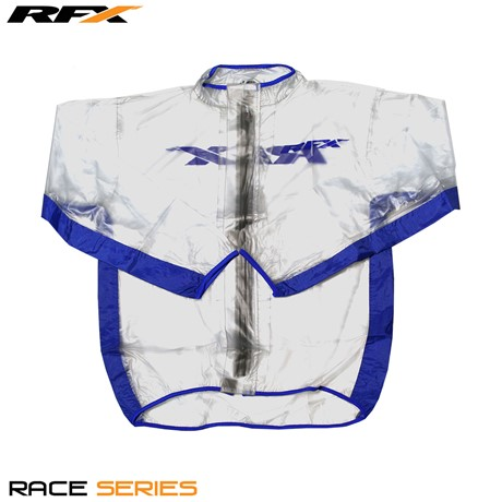 RFX Race Series Wet Jacket (Clear/Blue) Size Adult