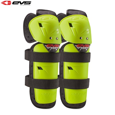 EVS 2016 Option Knee Guards Adult (Hi Viz Yellow) Pair Size Adult