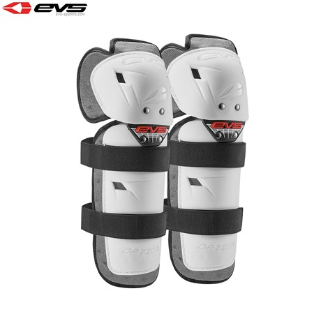 EVS 2016 Option Knee Guards Youth (White) Pair Size Youth