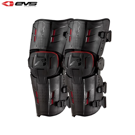 EVS RS9 Std Knee Braces Adult Black/Red (Optional Sizes)